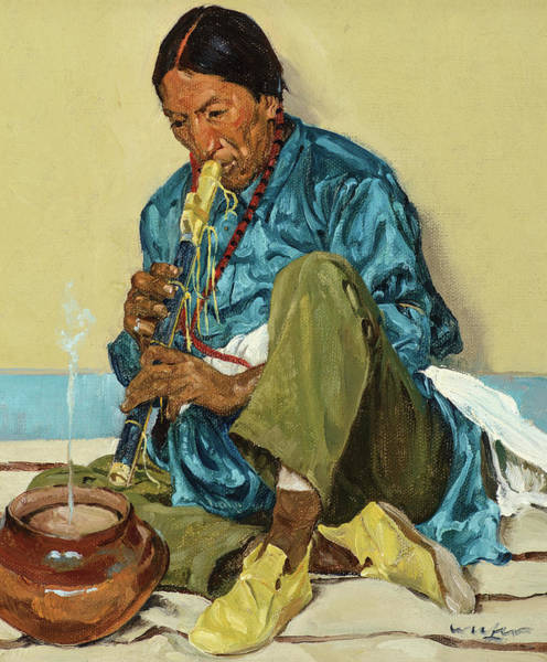 Wall Art - Painting - The Song Of The Olla, 1926 by Walter Ufer