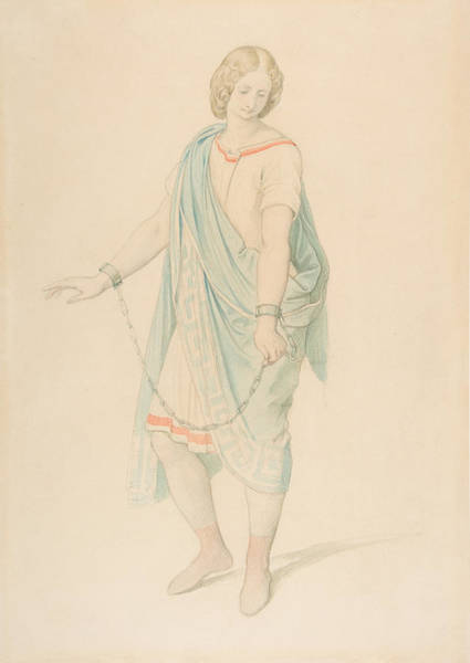 Drawing - The Soprano Karoline Hetzenecker In The Role Of Sesto In La Clemenza Di Tito By W.a. Mozart by Moritz von Schwind