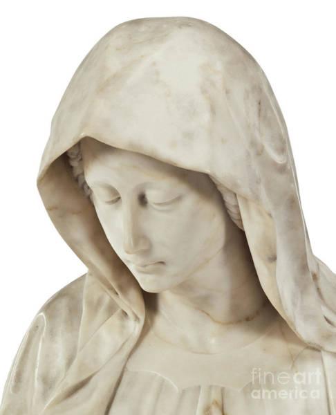 Wall Art - Sculpture - The Sorrowing Virgin  by Italian School