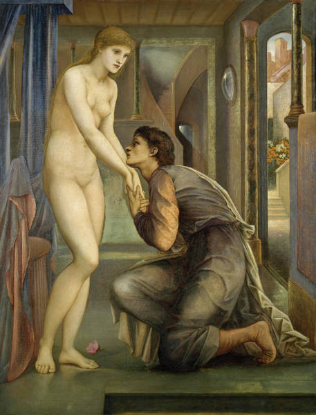 Wall Art - Painting - The Soul Attains by Edward Burne-Jones