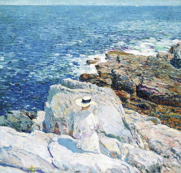 Ditch Painting - The South Ledges, Appledore - Digital Remastered Edition by Frederick Childe Hassam