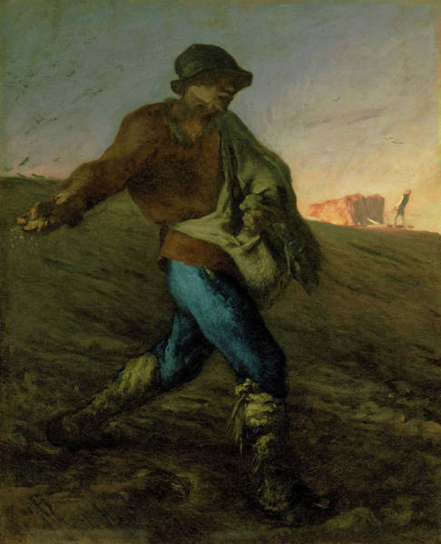 Wall Art - Painting - The Sower - Digital Remastered Edition by Jean-Francois Millet