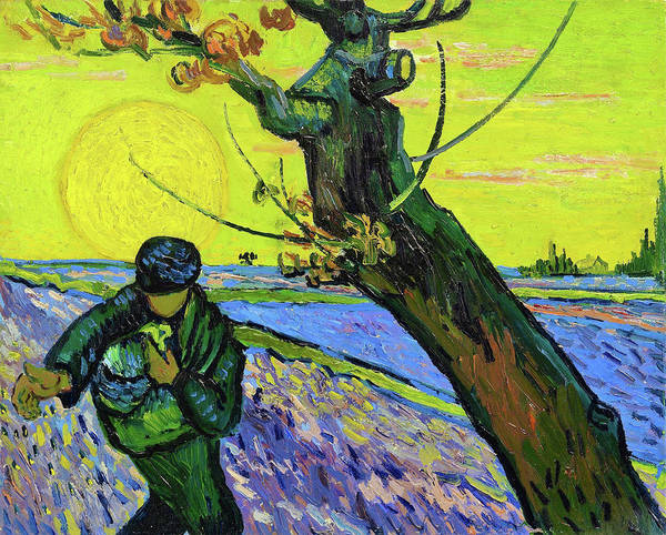 Wall Art - Painting - The Sower - Digital Remastered Edition by Vincent van Gogh