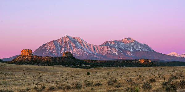 Wall Art - Photograph - The Spanish Peaks by Aaron Spong