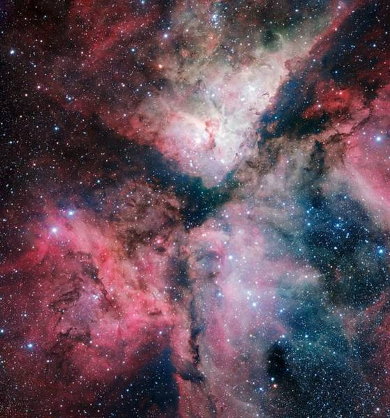 Wall Art - Painting - The Spectacular Star-forming Carina Nebula By The Eso Vlt Survey Telescope by Celestial Images