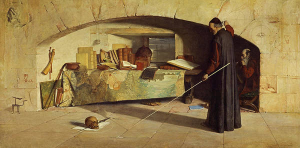 Calculation Painting - The Spell, 1864 by William Fettes Douglas
