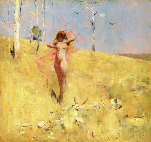 Wall Art - Painting - The Spirit Of The Drought - Digital Remastered Edition by Arthur Streeton