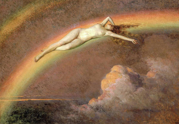 Wall Art - Painting - The Spirit Of The Rainbow, 1919 by Henry Mosler