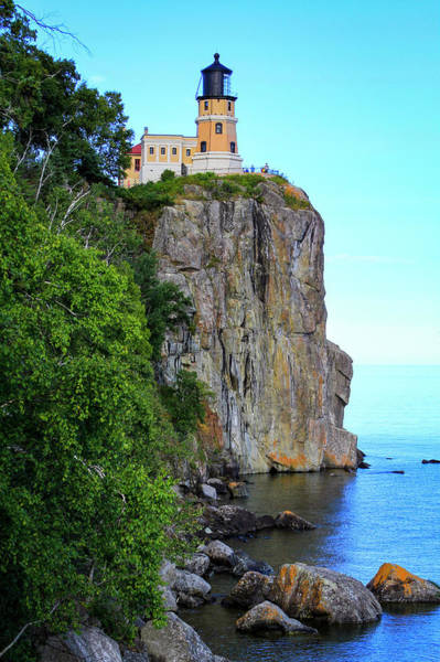 Photograph - The Split Rock Lighthouse by Bonnie Follett