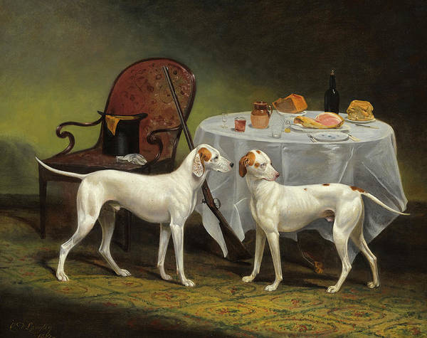 Wall Art - Painting - The Sportsman's Repast by Charles Dickinson Langley