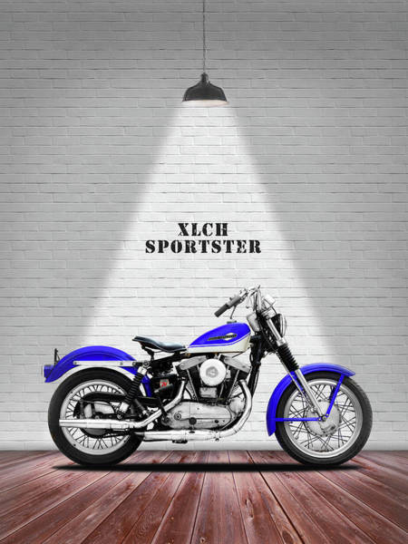 Photograph - The Sportster Vintage Motorcycle by Mark Rogan