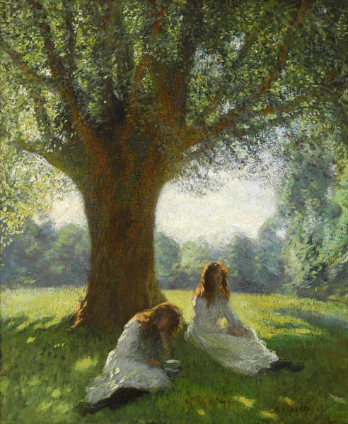 Spreading Wall Art - Painting - The Spreading Tree by Sir George Clausen
