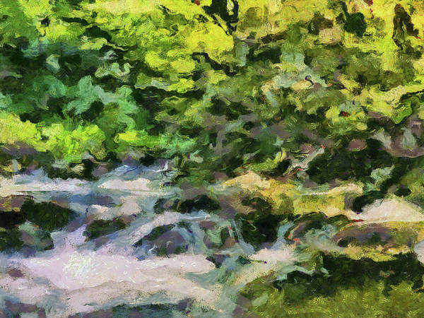 Painting - The Spring Cascade by Dan Sproul
