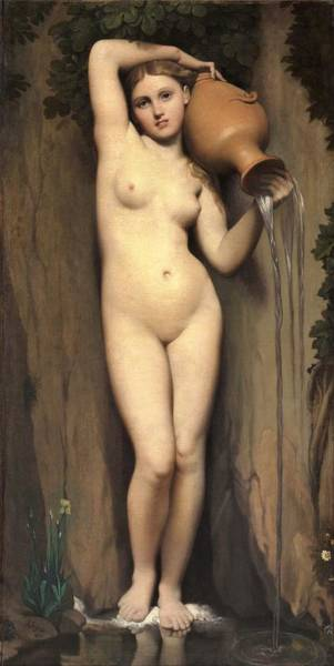 Wall Art - Painting - The Spring - Digital Remastered Edition by Dominique Ingres
