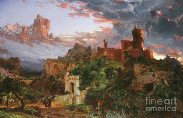 Outcrop Painting - The Sprit Of War, 1851 by Jasper Francis Cropsey