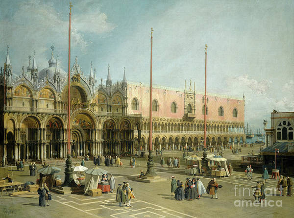 Wall Art - Painting - The Square Of Saint Marks, Venice By Canaletto by Canaletto