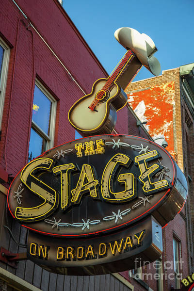Wall Art - Photograph - The Stage Broadway Neon Signage Nashville Tennessee Art  by Reid Callaway