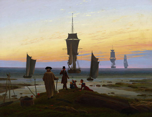 Baltic Sea Painting - The Stages Of Life, 1834 by Caspar David Friedrich
