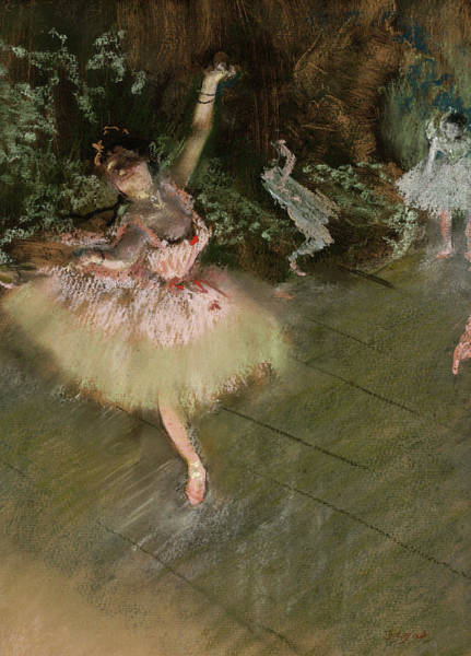 Wall Art - Painting - The Star, 1878 by Edgar Degas