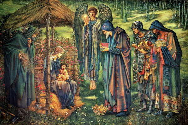 Wall Art - Painting - The Star Of Bethlehem - Digital Remastered Edition by Edward Burne-Jones