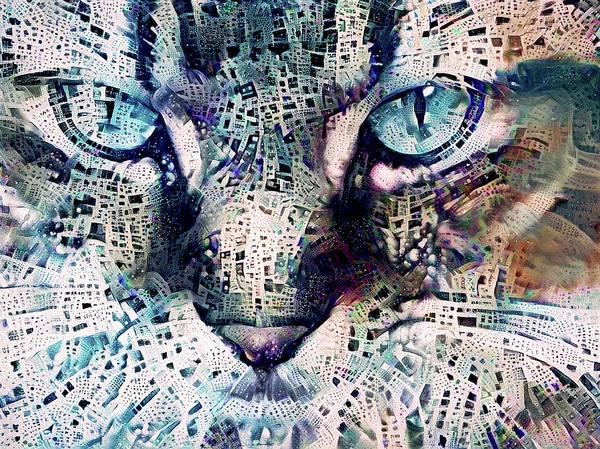 Digital Art - The Staring Contest by Peggy Collins