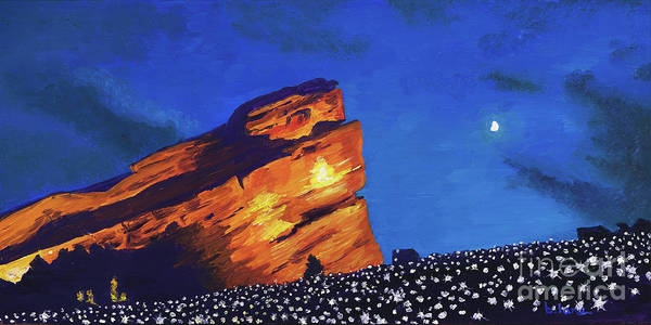 Star Formation Painting - The Stars Are Out by Brinda Lane-Pumphrey