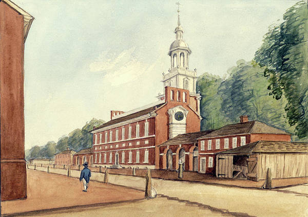 Drawing - The State House In 1778 by William Breton