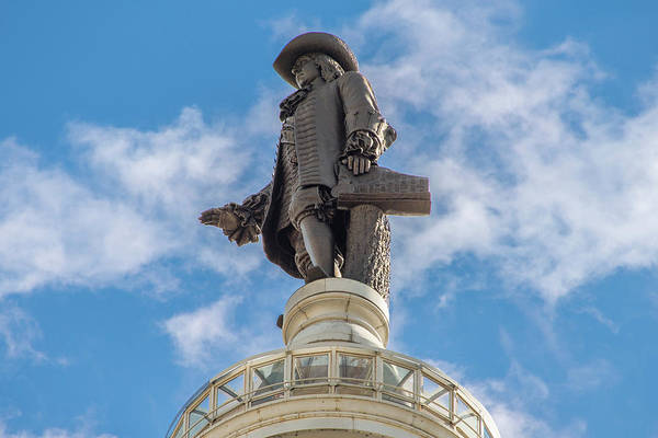 Photograph - The Statue Of William Penn On City Hall In Philadelphia by Bill Cannon