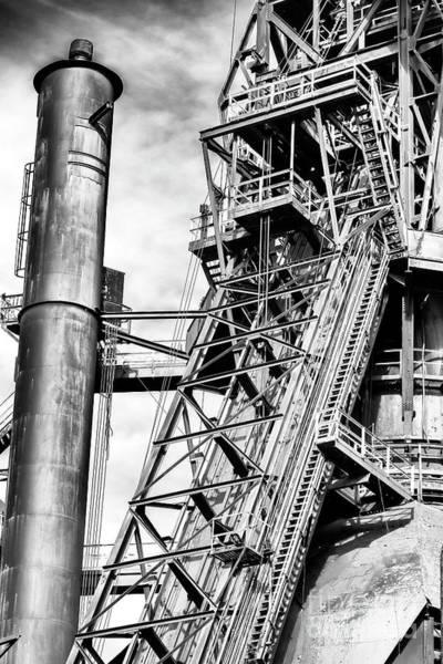 Photograph - The Steel Mill In Bethlehem Pennsylvania by John Rizzuto