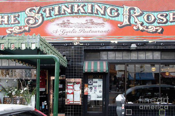 Photograph - The Stinking Rose Restaurant In North Beach Little Italy San Francisco R116 by Wingsdomain Art and Photography