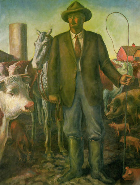 Wall Art - Painting - The Stockman by John Steuart Curry
