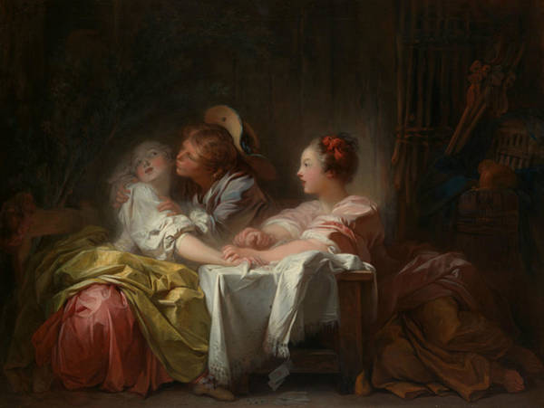 Painting - The Stolen Kiss, Circa 1760 by Jean-Honore Fragonard