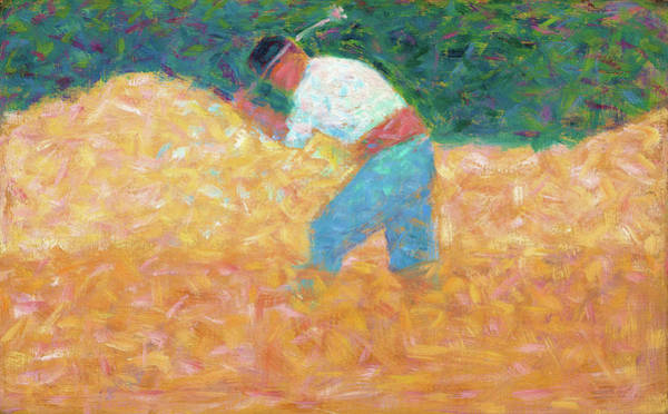 Wall Art - Painting - The Stone Breaker - Digital Remastered Edition by Georges Seurat