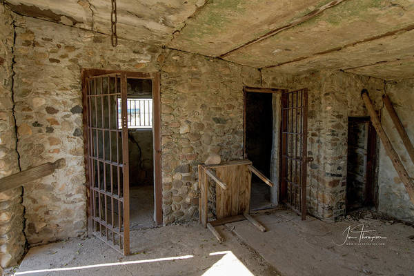 Photograph - The Stone Jailhouse Interior by Jim Thompson