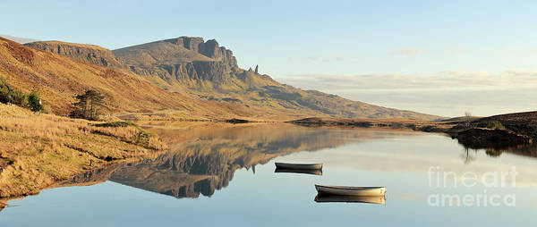 Photograph - The Storr Reflecting In Loch Fada - Panorama by Maria Gaellman