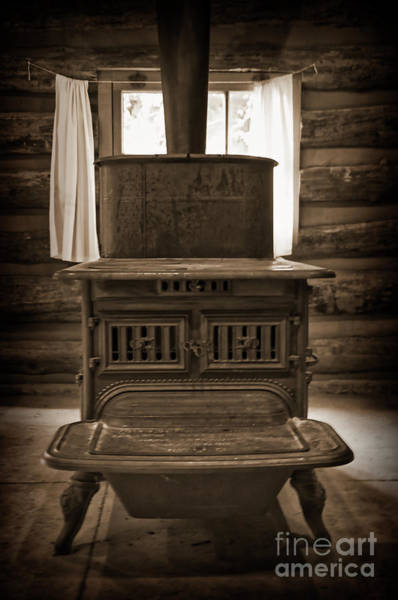 Photograph - The Stove In The Cabin by Kirt Tisdale
