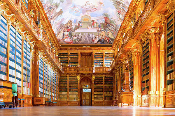 Ornate Photograph - The Strahov Monastery by Visions Of Our Land