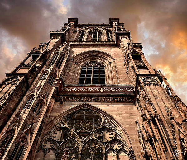 Photograph - The Strasbourg Cathedral Spire by Endre Balogh