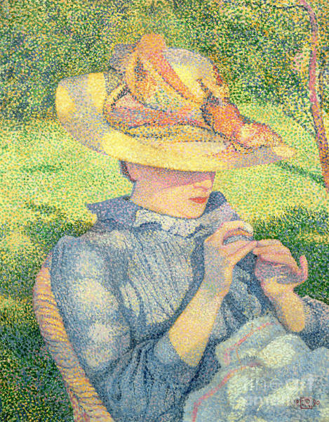 Wall Art - Painting - The Straw Hat, 1890 by Theo van Rysselberghe
