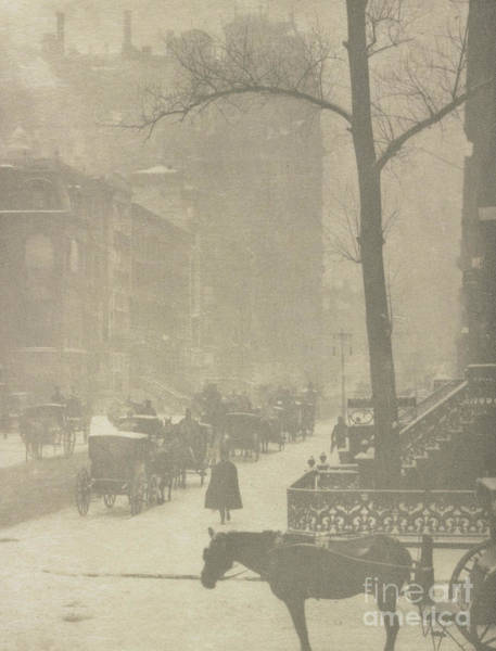 Photograph - The Street, Design For A Poster by Alfred Stieglitz