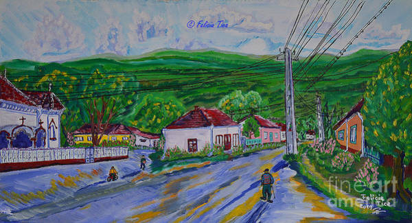 Wall Art - Painting - The Street With Memories by Felicia Tica