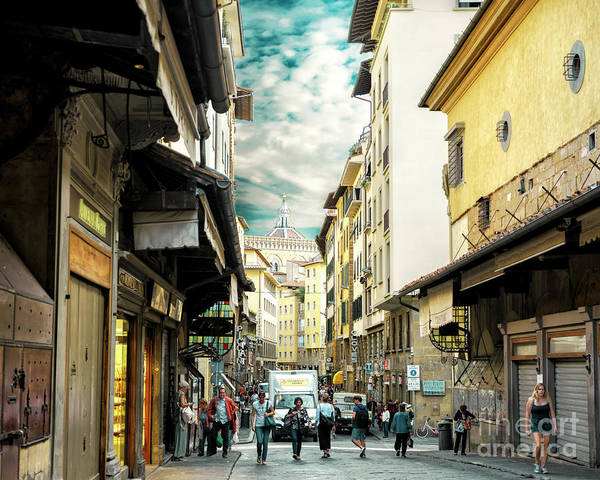 Photograph - The Streets Of Florence by John Rizzuto