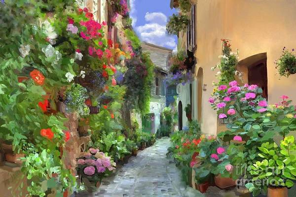 Andrew Jackson Wall Art - Painting - The Streets Of Salita Serbellon by Andrew Jackson