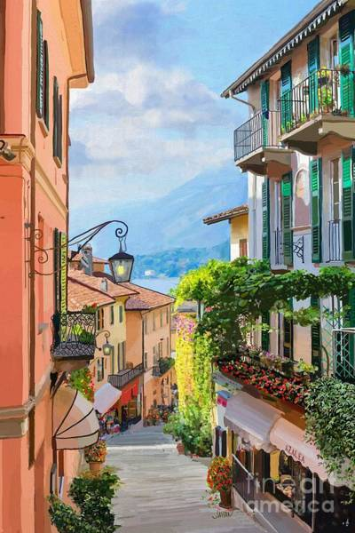 Andrew Jackson Wall Art - Painting - The Streets Of Salita Serbellon In Italy by Andrew Jackson