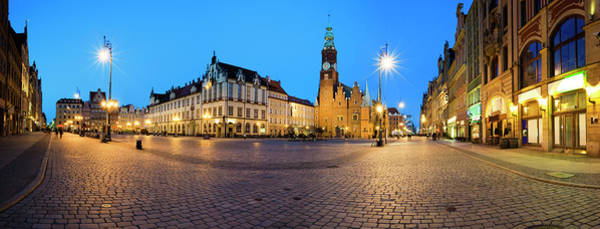 Wall Art - Photograph - The Streets Of Wroclaw At Dusk by Gosiek-b