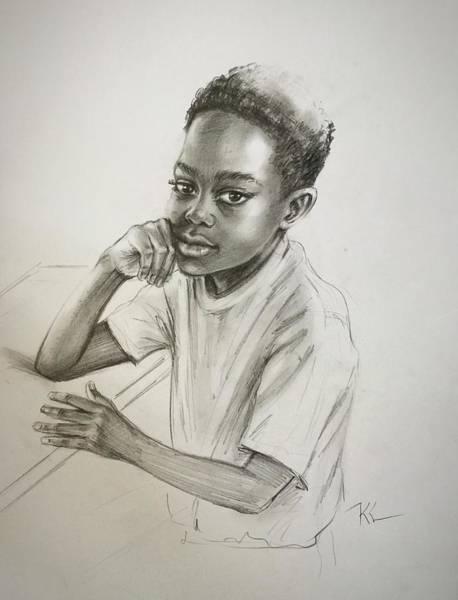 Drawing - The Student by Katerina Kovatcheva
