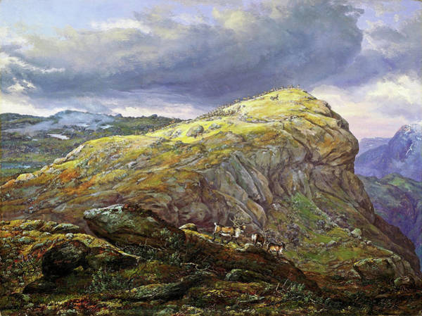 Wall Art - Painting - The Stugunoset In The Filefjeld - Digital Remastered Edition by Johan Christian Dahl