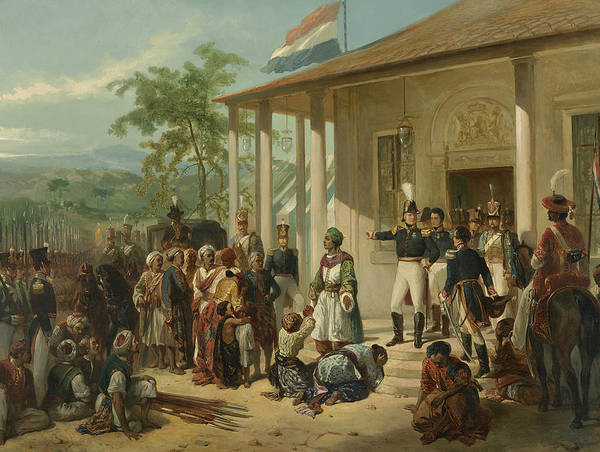 Wall Art - Painting - The Submission Of Diepo Negoro To Lieutenant General Baron De Kock by Nicolaas Pieneman