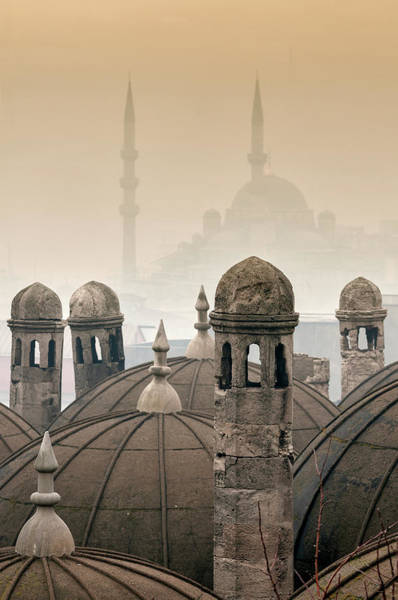 Suleymaniye Mosque Photograph - The Suleymaniye Mosque And New Mosque by Ayhan Altun