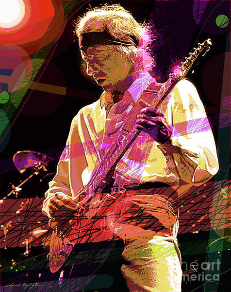 Painting - The Sultan - Mark Knopfler  by David Lloyd Glover